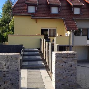 escalier bloc marche palissade
